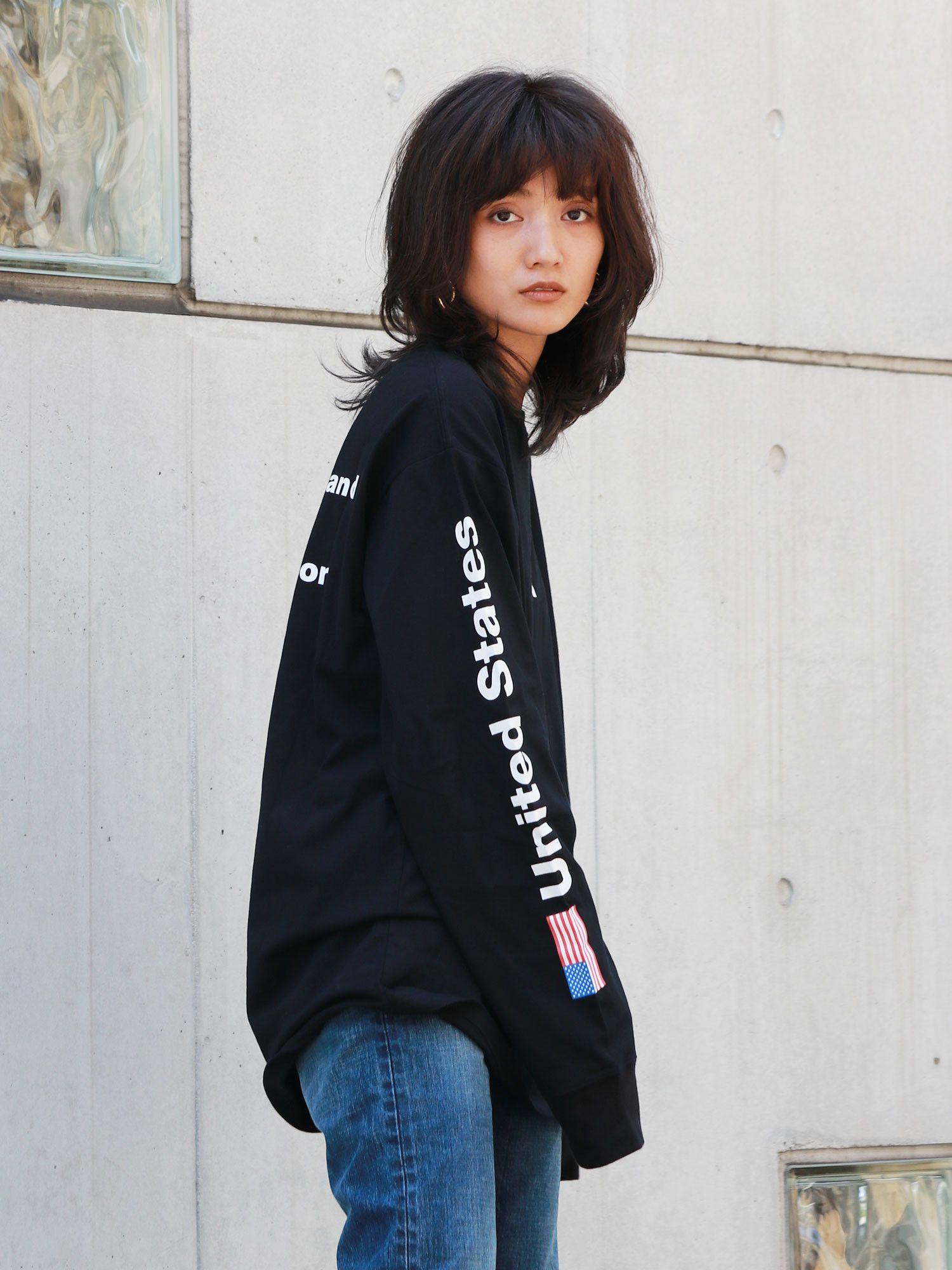 NASA標誌寬鬆長袖T卹