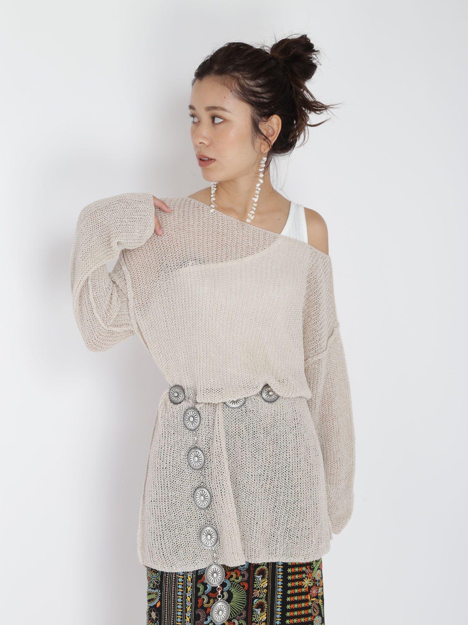 Linen blend loose knit