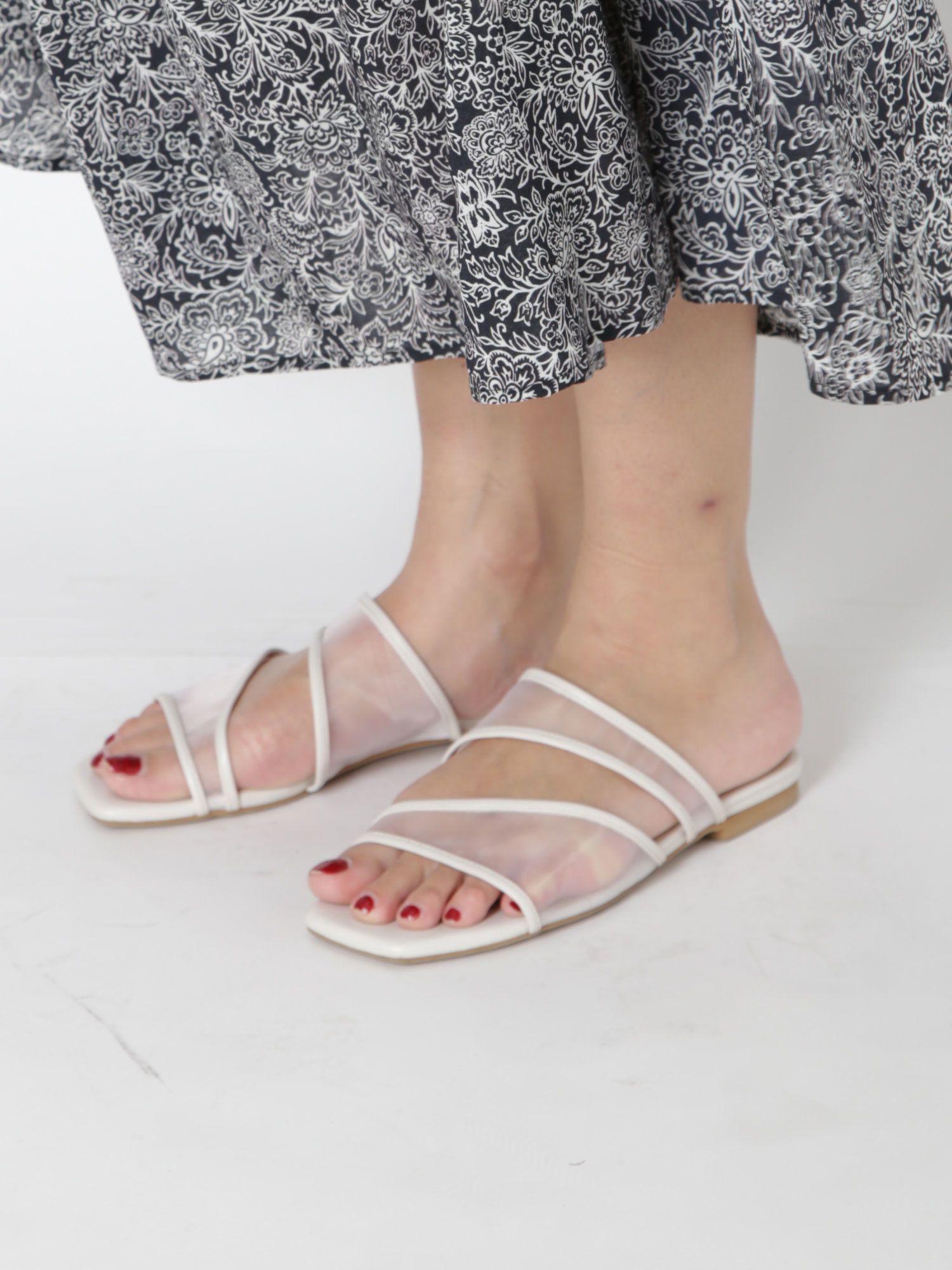 Mesh flat sandals