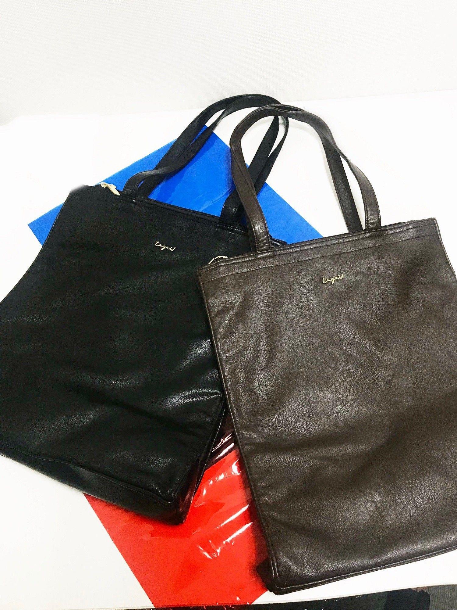 [Ungrid]水洗皮革狀手提包