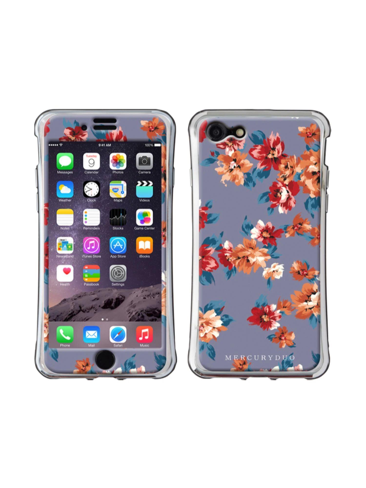 【MERCURYDUO】Middle flower iphone-7/8 スマホケース