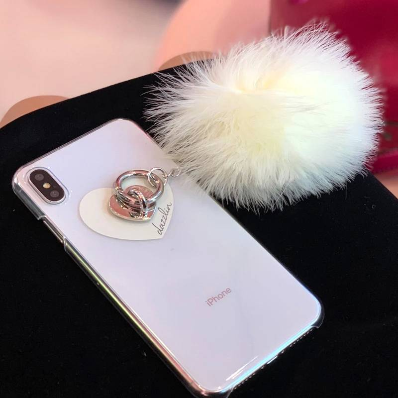 【dazzlin】FUR CREAM iphone-X/XS スマホケース