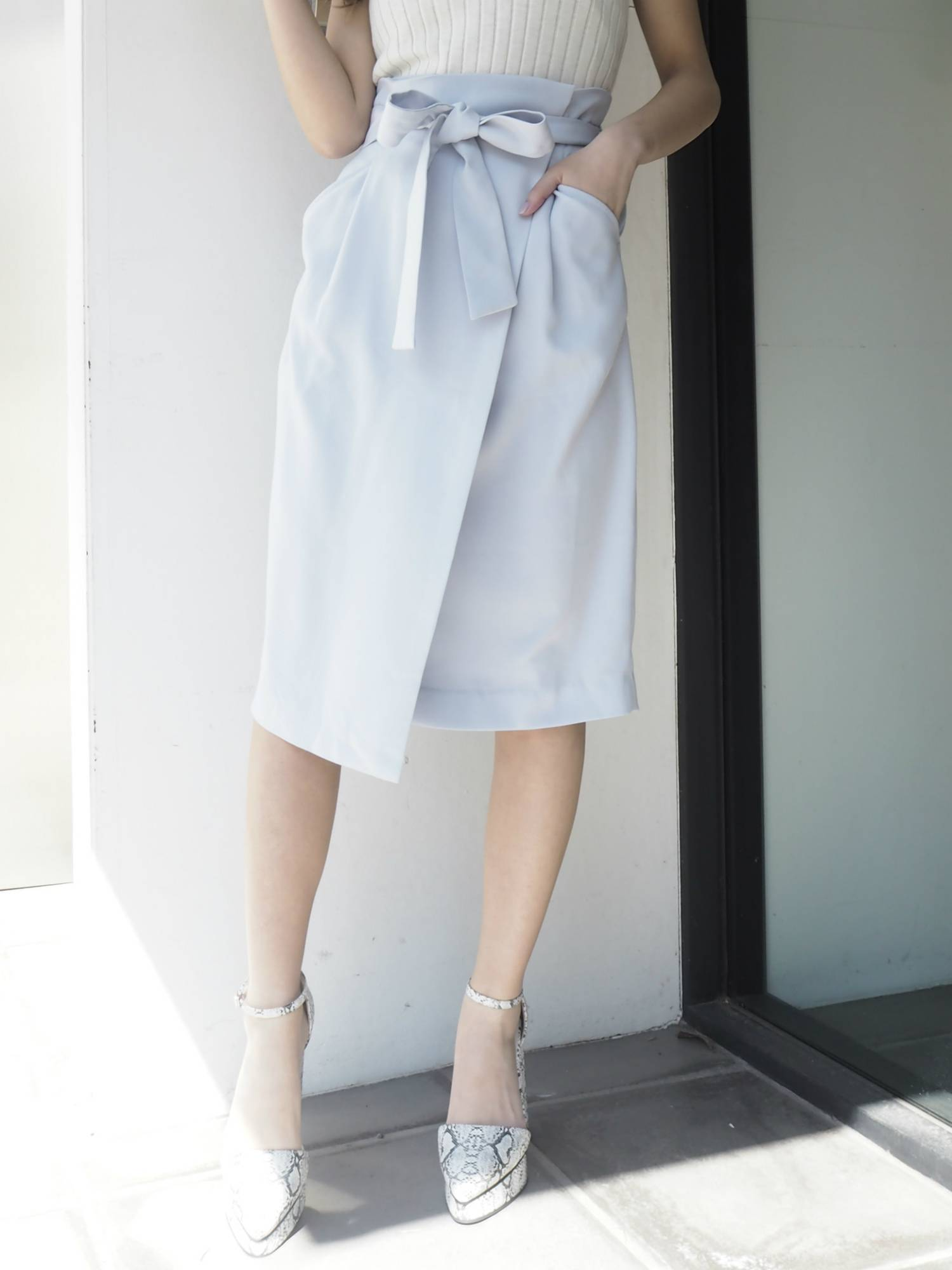 [RUNWAY channel limited] layer ribbon skirt