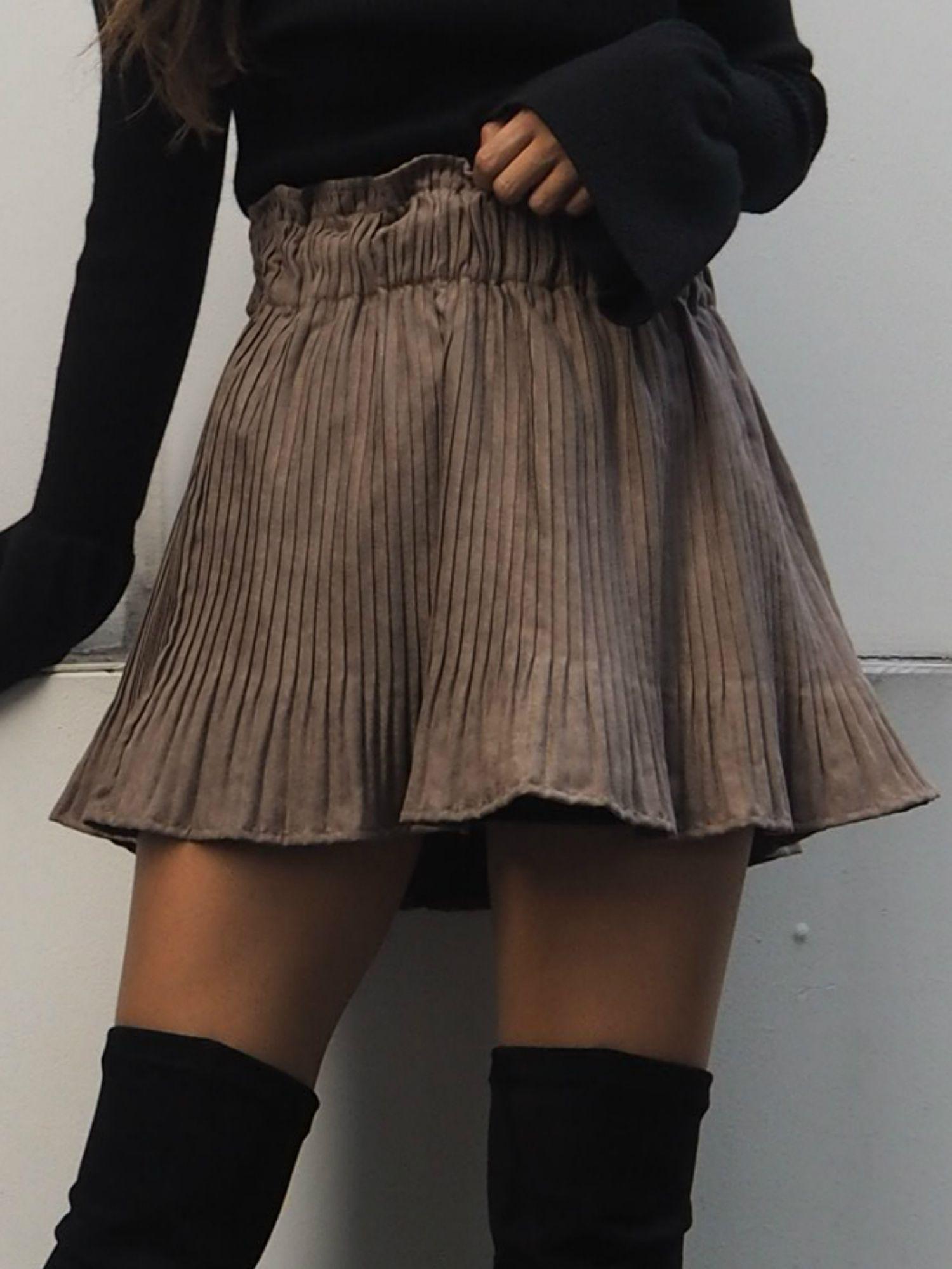 擴口百褶裙