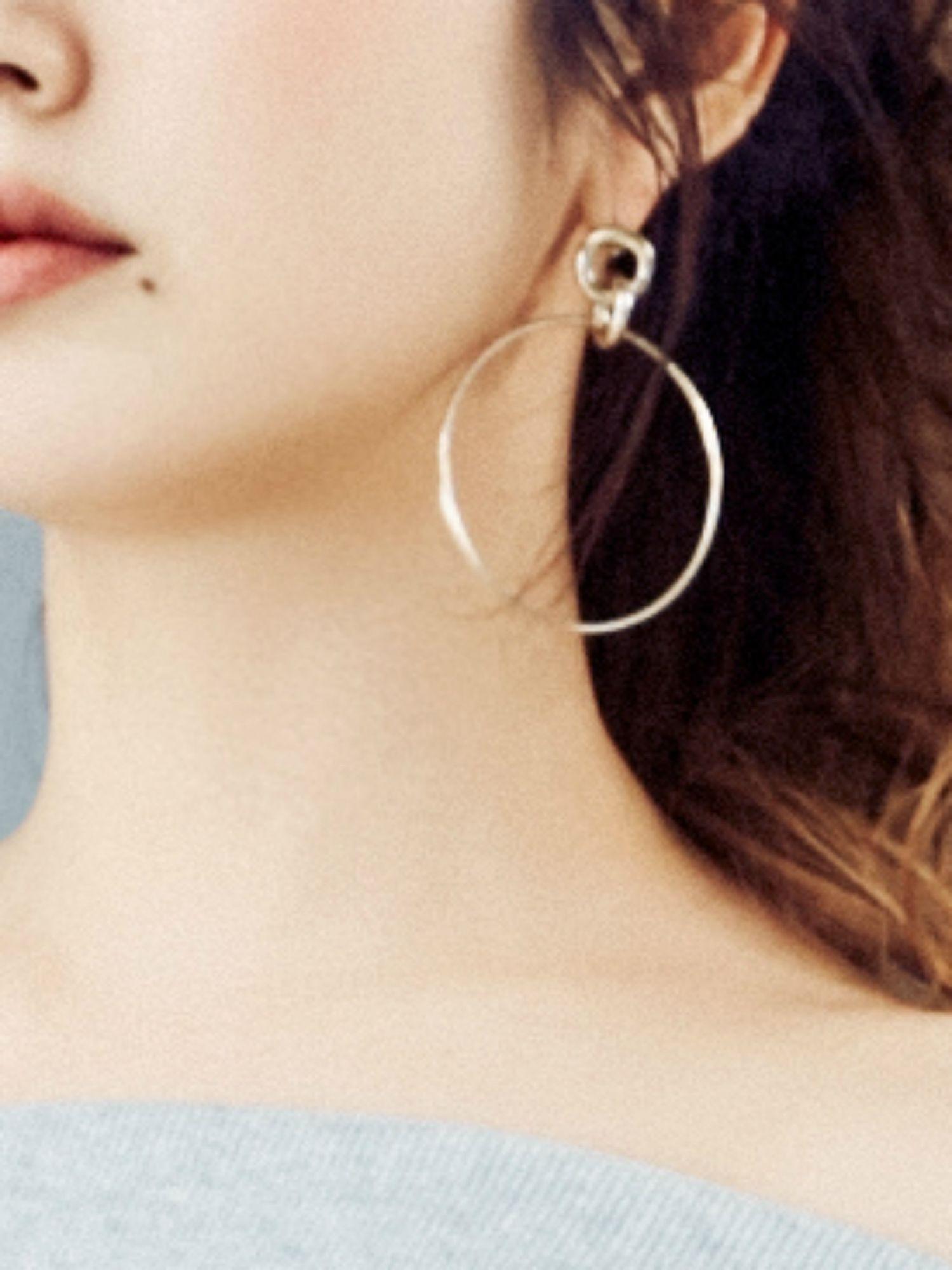圓十字耳環