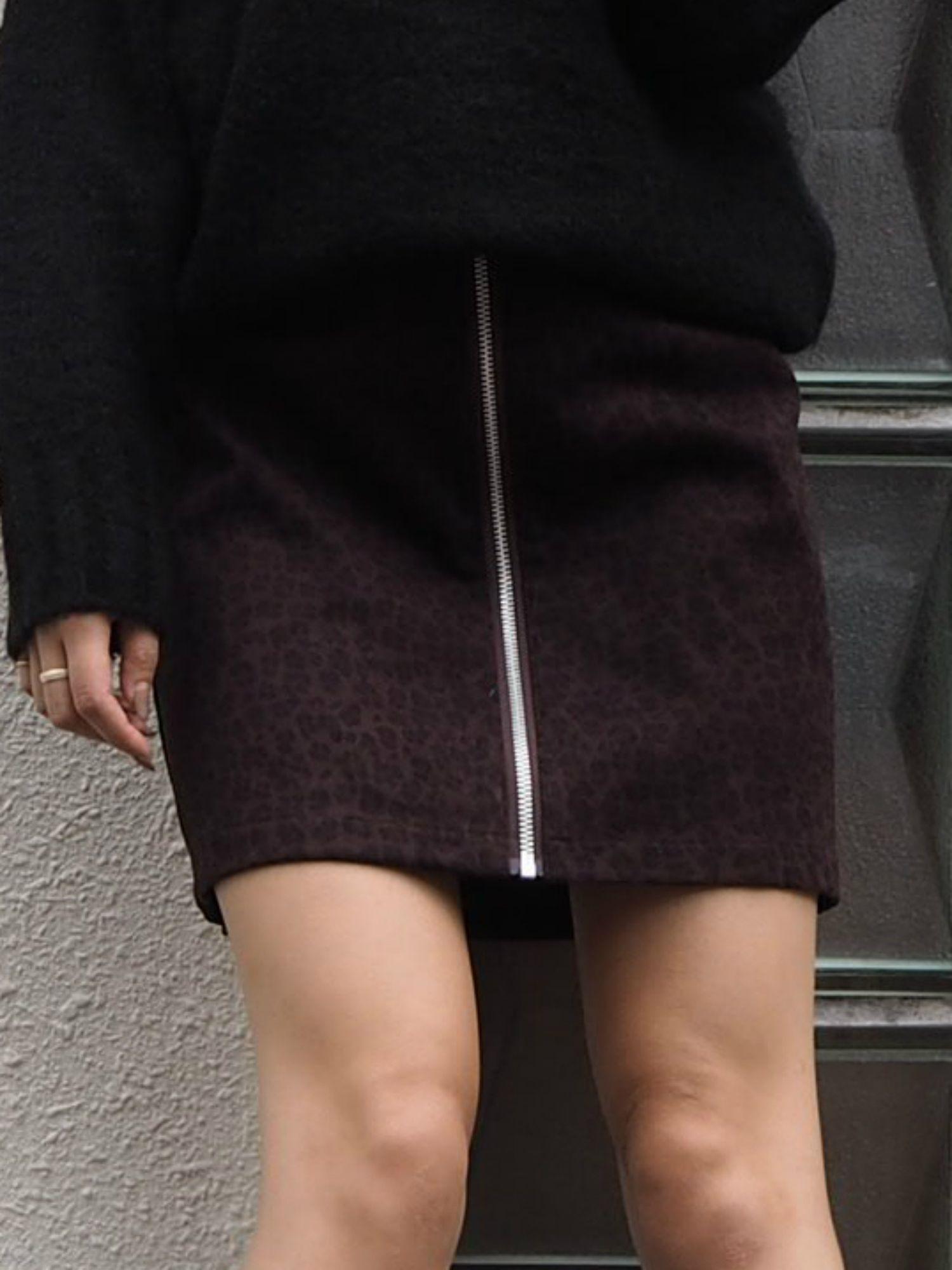 [WEB limited] ZIP design mini skirt