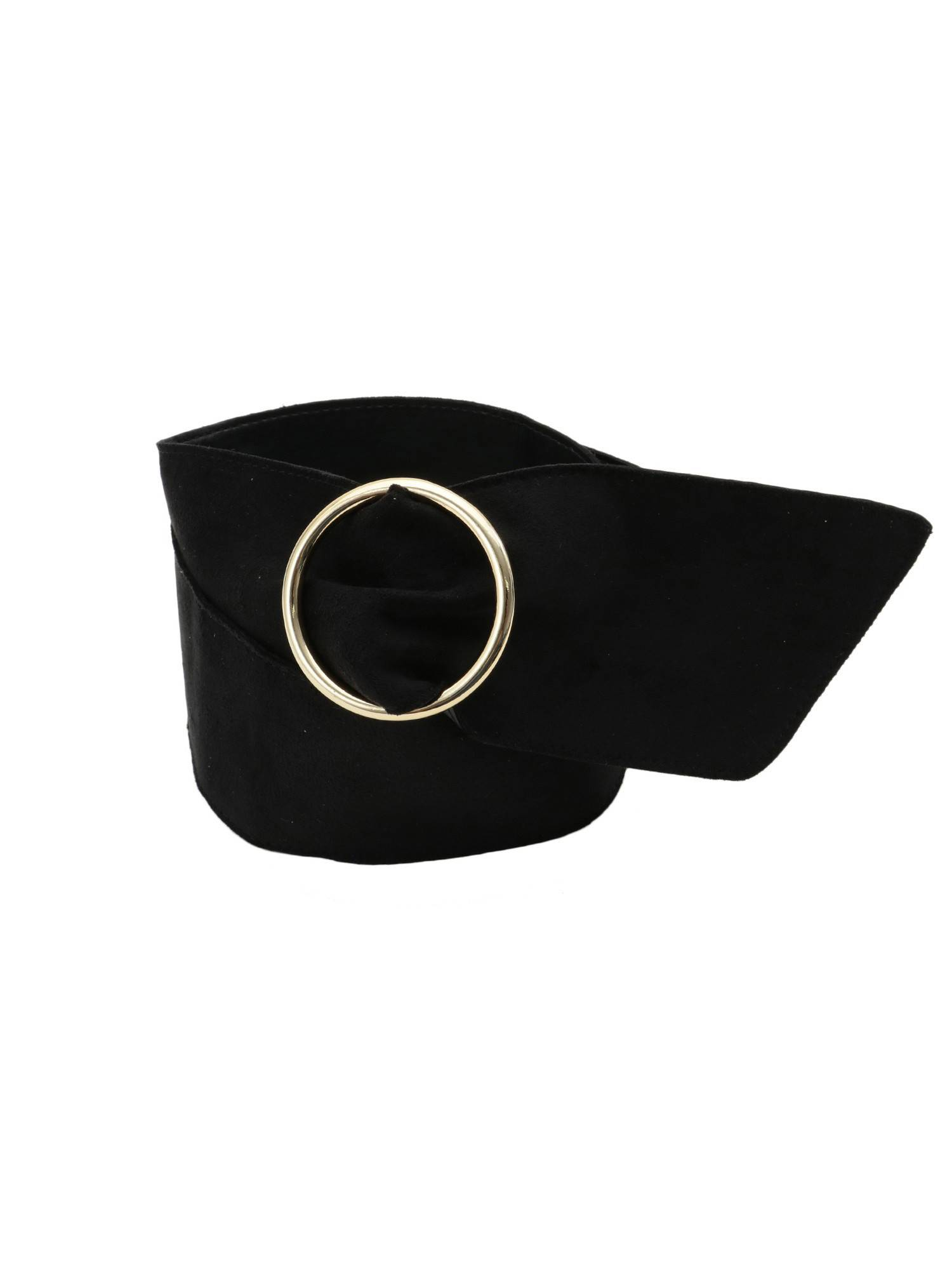 Faux suede thick belt