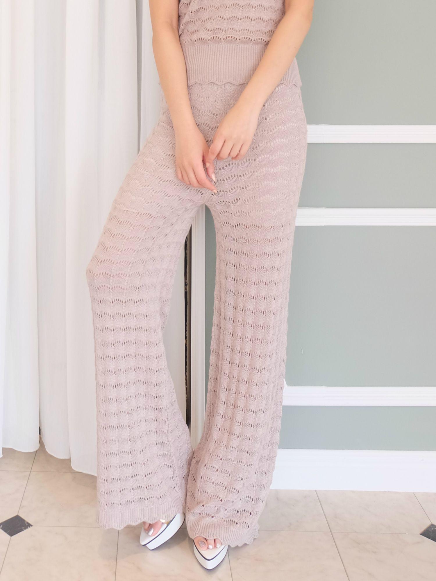 Watermark knit pants