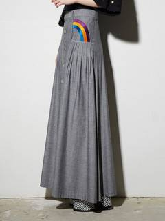 PAMEO POSE(パメオポーズ) |RAINBOW EMBROIDERED LONG SKIRT 画像09