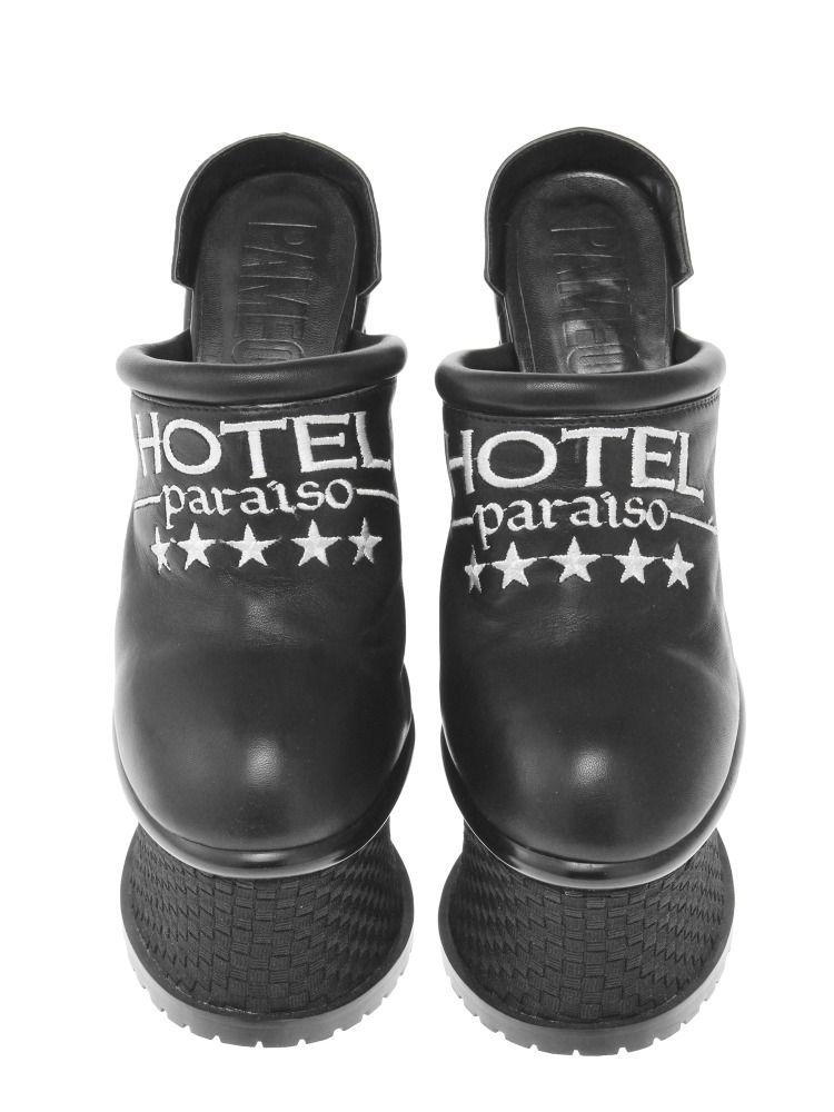 HOTEL PARAISO SLIPPERS HEEL SANDAL BLACK