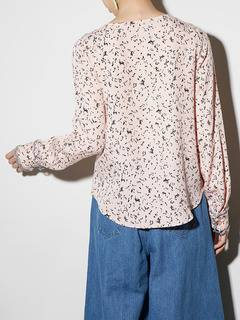 PAMEO POSE(パメオポーズ) |LIZARD PATTERN LACE-TRIMMED BLOUSE 画像03
