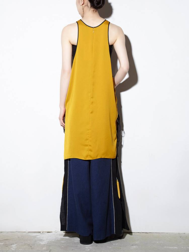 PAMEO POSE(パメオポーズ) |TIE SIDE SATIN TANK DRESS