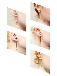 PAMEO POSE(パメオポーズ) |MAGICAL STICK EARRINGS GOLD 画像06