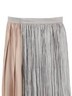 PAMEO POSE(パメオポーズ) |PLEATED GLOSSY SATIN SKIRT 画像15