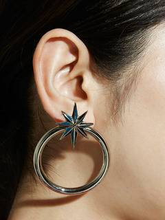 PAMEO POSE(パメオポーズ) |NUIT STAR EARRINGS SILVER 画像010