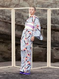 PAMEO POSE(パメオポーズ) |THREE HEADS FLAMINGO YUKATA 画像14