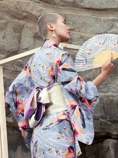 PAMEO POSE(パメオポーズ) |THREE HEADS FLAMINGO YUKATA 画像15