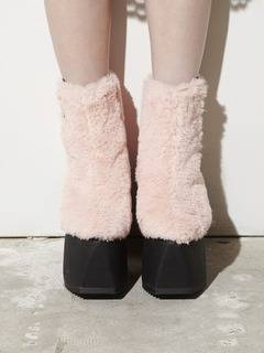PAMEO POSE(パメオポーズ) |PIERCED ANKLE BOOTS ECO FUR 画像07