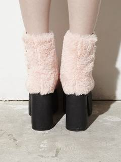 PAMEO POSE(パメオポーズ) |PIERCED ANKLE BOOTS ECO FUR 画像09