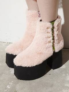 PAMEO POSE(パメオポーズ) |PIERCED ANKLE BOOTS ECO FUR 画像010