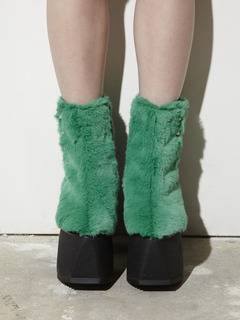 PAMEO POSE(パメオポーズ) |PIERCED ANKLE BOOTS ECO FUR 画像11