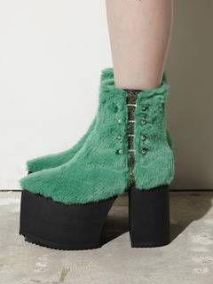 PAMEO POSE(パメオポーズ) |PIERCED ANKLE BOOTS ECO FUR 画像12