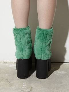 PAMEO POSE(パメオポーズ) |PIERCED ANKLE BOOTS ECO FUR 画像13