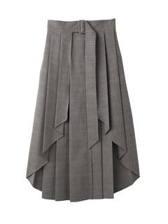 PAMEO POSE(パメオポーズ) |PLEATED SKIRT BELT PLAID 画像19
