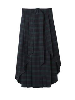 PAMEO POSE(パメオポーズ) |PLEATED SKIRT BELT PLAID 画像20