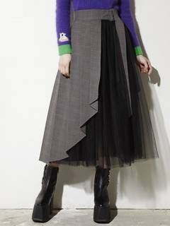 PAMEO POSE(パメオポーズ) |PLEATED SKIRT BELT PLAID 画像03