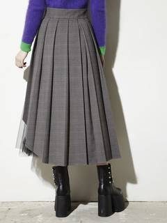 PAMEO POSE(パメオポーズ) |PLEATED SKIRT BELT PLAID 画像05