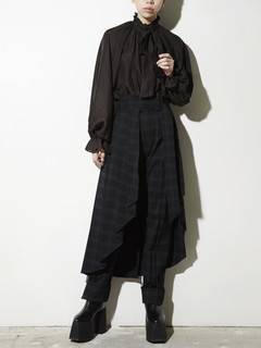 PAMEO POSE(パメオポーズ) |PLEATED SKIRT BELT PLAID 画像08