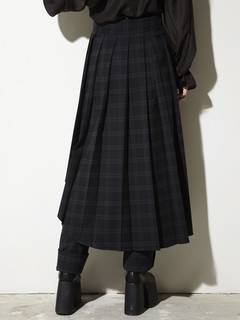 PAMEO POSE(パメオポーズ) |PLEATED SKIRT BELT PLAID 画像11