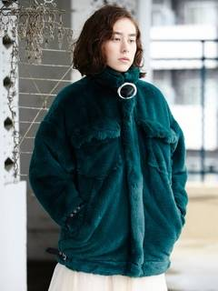 PAMEO POSE(パメオポーズ) |BELTED ECO FUR JACKET 画像03
