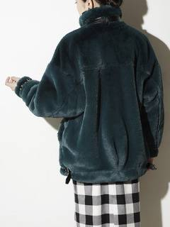 PAMEO POSE(パメオポーズ) |BELTED ECO FUR JACKET 画像010