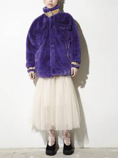 PAMEO POSE(パメオポーズ) |BELTED ECO FUR JACKET 画像13