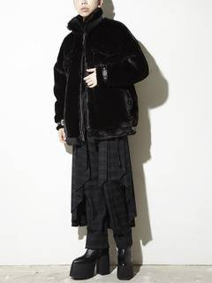 PAMEO POSE(パメオポーズ) |BELTED ECO FUR JACKET 画像19