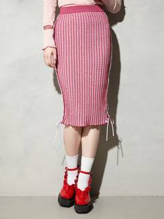 PAMEO POSE(パメオポーズ) |KITTEN GLITTER STRIPE KNIT SKIRT 画像05
