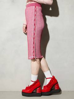 PAMEO POSE(パメオポーズ) |KITTEN GLITTER STRIPE KNIT SKIRT 画像06
