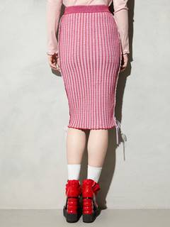PAMEO POSE(パメオポーズ) |KITTEN GLITTER STRIPE KNIT SKIRT 画像07