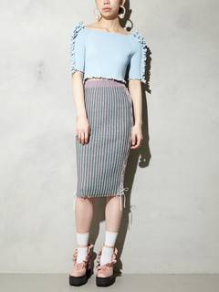 PAMEO POSE(パメオポーズ) |KITTEN GLITTER STRIPE KNIT SKIRT 画像010