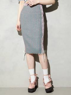 PAMEO POSE(パメオポーズ) |KITTEN GLITTER STRIPE KNIT SKIRT 画像11