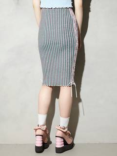 PAMEO POSE(パメオポーズ) |KITTEN GLITTER STRIPE KNIT SKIRT 画像13