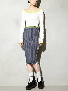 PAMEO POSE(パメオポーズ) |KITTEN GLITTER STRIPE KNIT SKIRT 画像22