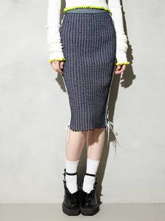PAMEO POSE(パメオポーズ) |KITTEN GLITTER STRIPE KNIT SKIRT 画像23