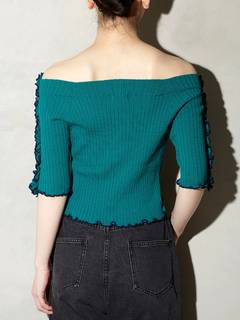 PAMEO POSE(パメオポーズ) |BI-COLLAR TRIMMED KNIT TOP 画像13