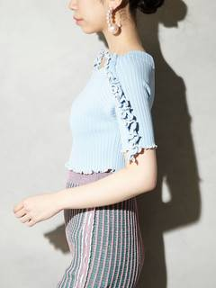 PAMEO POSE(パメオポーズ) |BI-COLLAR TRIMMED KNIT TOP 画像18