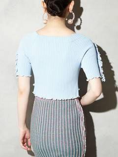 PAMEO POSE(パメオポーズ) |BI-COLLAR TRIMMED KNIT TOP 画像19