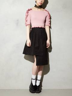 PAMEO POSE(パメオポーズ) |BI-COLLAR TRIMMED KNIT TOP 画像22