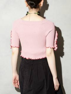 PAMEO POSE(パメオポーズ) |BI-COLLAR TRIMMED KNIT TOP 画像25